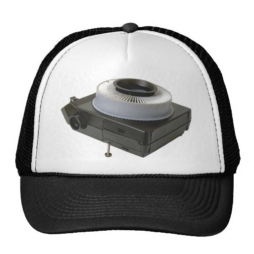 Slide projector trucker hat