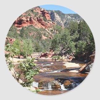 Slide Rock State Park, Arizona, USA Classic Round Sticker