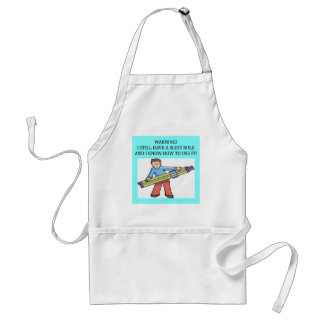 slide rule math humor adult apron