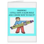 slide rule math humor card