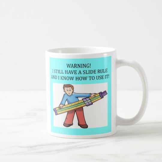 slide rule math humor, slide rule math humor coffee mug