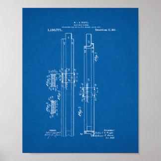 Slide-rule Runner Patent - Blueprint Poster