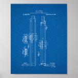 Slide-rule Runner Patent - Blueprint Print
