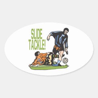 Slide Tackle Oval Sticker