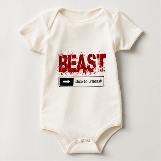 slide to unleash the beast baby bodysuit