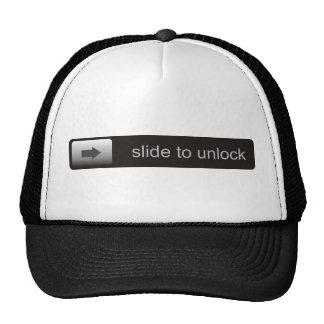 slide to unlock funny text smartphone message trucker hat