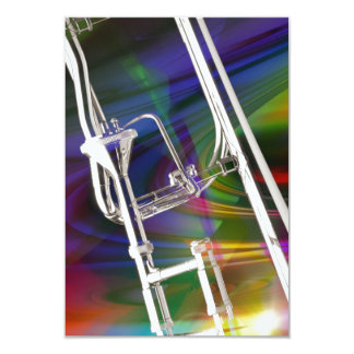 Slide Trombone card or invitation YOU ADD TEXT