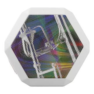 Slide Trombone key 3 Ring Binder Notebook ADD TEXT White Bluetooth Speaker