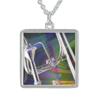 Slide Trombone Necklace Jewelry YOU ADD TEXT