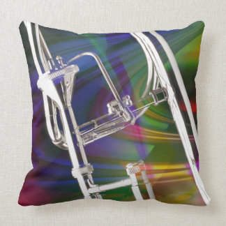 Slide Trombone pillows YOU ADD TEXT