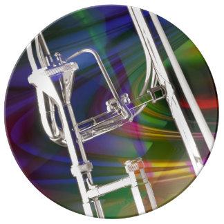 Slide Trombone Plates YOU ADD TEXT
