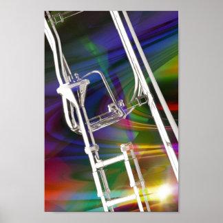 Slide Trombone Poster Photograph Add TEXT
