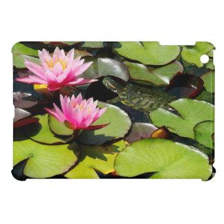 Slider Turtle Waterlily Flowers Pond Wildlife iPad Mini Case