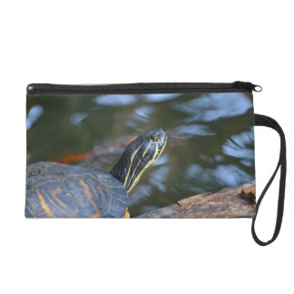 slider water turtle head out of shell wristlet
