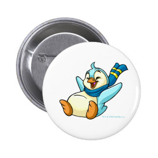 Sliding blue Bruce Pinback Button