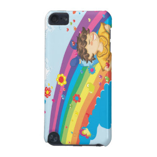 sliding down a rainbow happy vector illustration iPod touch 5G covers