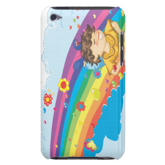 sliding down a rainbow happy vector illustration barely there iPod cover