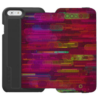 Sliding Florescent Abstract Pattern iPhone 6/6s Wallet Case