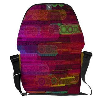 Sliding Florescent Abstract Pattern Messenger Bag