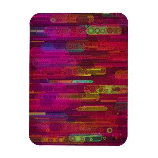 Sliding Florescent Abstract Pattern Rectangular Photo Magnet