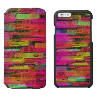 Sliding Florescent Washed Abstract iPhone 6/6s Wallet Case
