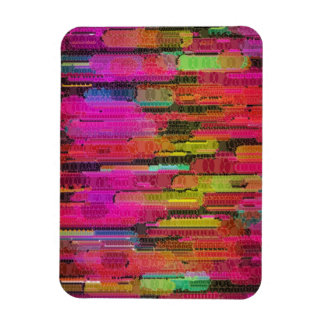 Sliding Florescent Washed Abstract Rectangular Photo Magnet