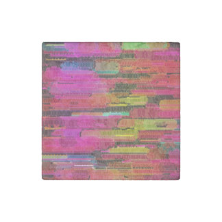 Sliding Florescent Washed Abstract Stone Magnet