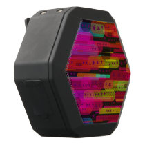 Sliding Star Abstract Pattern Black Bluetooth Speaker