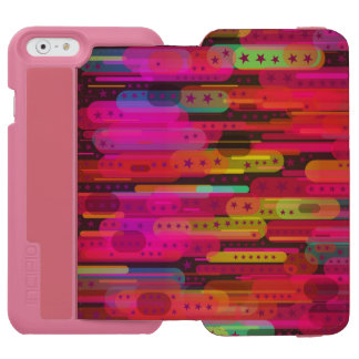 Sliding Star Abstract Pattern iPhone 6/6s Wallet Case