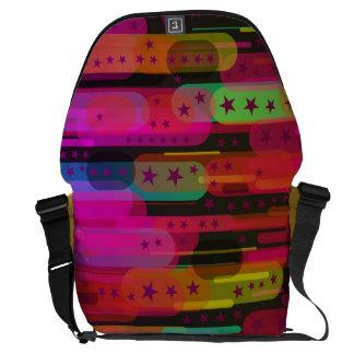 Sliding Star Abstract Pattern Messenger Bag