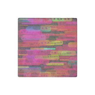 Sliding Star Abstract Pattern Stone Magnet