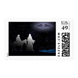 Slient Night Christmas Postage Stamp