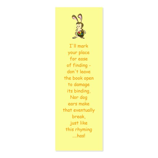 Slightly bemused Easter Bunny and basket of eggs Business Card Templates