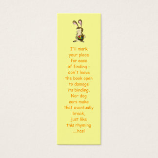 Slightly bemused Easter Bunny and basket of eggs Mini Business Card