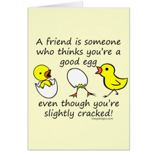 Slightly Cracked Funny Best Friend Saying Cards