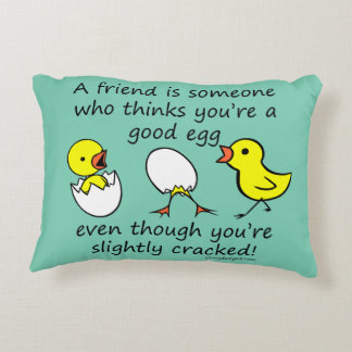 Slightly Cracked Funny Best Friend Saying Decorative Pillow
