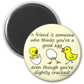 Slightly Cracked Funny Best Friend Saying Magnet