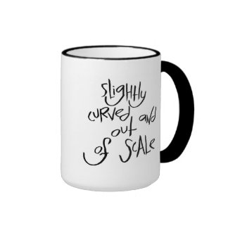 Slightly Curved And Out Of Scale Ringer Coffee Mug