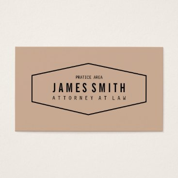 Lawyer Themed Slightly Desaturated Orange Retro Attorney Business Card