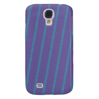 Slightly Diagonal Stripes in Purple and Blue Samsung Galaxy S4 Cover