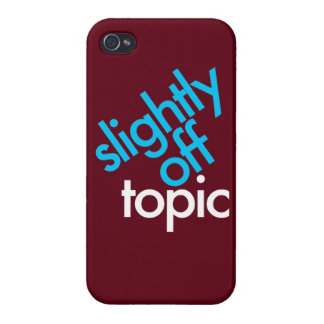 """Slightly Off Topic"" iPhone 4 Case"