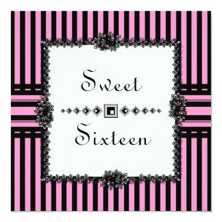 Slightly Saucy Hot Pink Sweet Sixteen Card