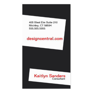 Slightly skewed Double-Sided standard business cards (Pack of 100)