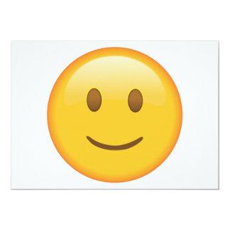 Slightly Smiling Face - Emoji Card