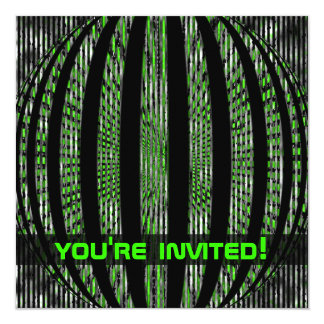 Slightly Spacy Green Party Invitations