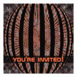 Slightly Spacy Orange Custom Invitation