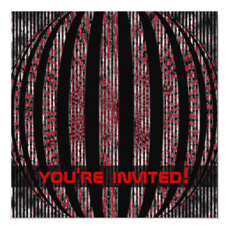 Slightly Spacy Red Party Invitations