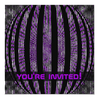 Slightly Spacy Tech Purple Party Invitation