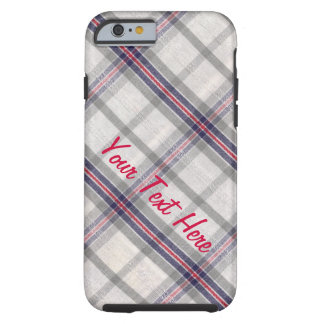 Slightly Wrinkled Flannel Tough iPhone 6 Case