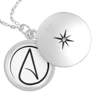 Slim Atheist Symbol Locket